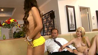 Threesome Action With Teens Tiffany Fox And Trinity St. Clair