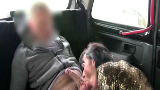 Euro Slut Gets Oral From Her Cab Driver During Her Ride