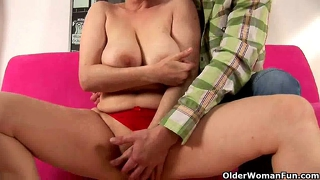 Mature Mom With Wide Hips And Hanging Big Tits