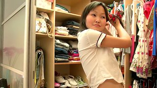 Petite Asian Teen Aliona Gets Caught In Dressing Room
