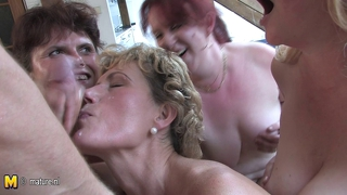 Old Bitches Love To Share One Cock