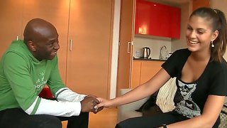 Sexy Cute Defrancesca Gallardo In A Hotel Room Getting Seduced By Black Stud