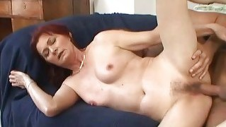 Nasty Old Redhead Fucking With A Boy