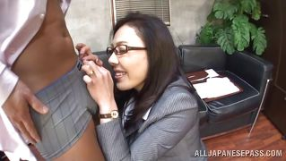 Japanese Bitch Satisfies Her Boss