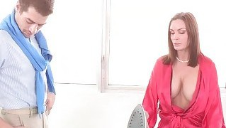 Sexy Milf Diamond Tempting A Young Guy