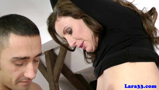 British Mature Milf Deepthroating Cock