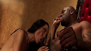 Asian Slut Getting Banged Hard By A Black Cock Filled With Power