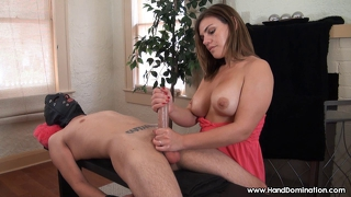 Milf Enjoys Handjob On Young Stud Cock