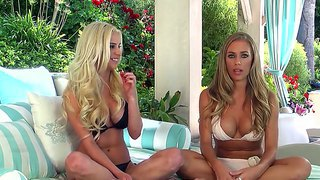 Nicole Aniston Enjoys Blonde Hottie Stimulating Her In Naughty Lesbian Softcore