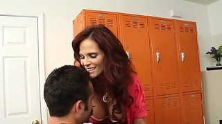 Daniel Hunter Got A Special Lesson Today With His Fascinating Redhead Teacher Syren De Mer