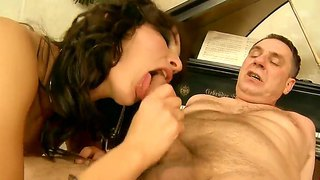 Enjoy Flirtatious And Perverted Brunette Sex Doll Bailee Fucking With Her Old Music Teacher