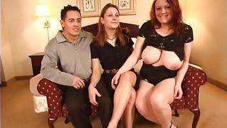 Threesome Swing With A Busty Whore