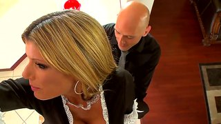 busty maid kristal summers cleaning the hard rod