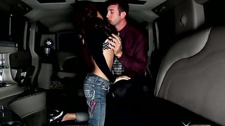 Kim Tao Gets Her Asian Pussy Eaten Out In A Limo