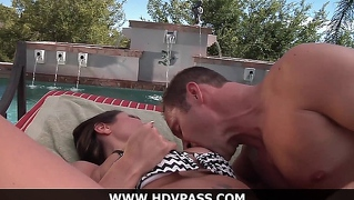 Amy Fisher Gets Fucked By The Pool