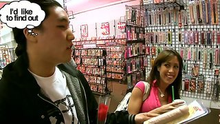 Capri Cavalli Demonstrates How To Deep Suck A Huge Cock While At The Sex Shop