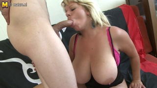 Super Hot Milf With Huge Tits Gets Fucked