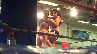 Aletta Ocean And Kissy Deciding Who Is The Best Fucker On The Boxing Ring