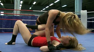 Cindy Hope And Sophie Moone Fighting Dirty On The Boxing Ring