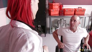 Redhead Nurse Is So Kind To Offer Her Boobs.