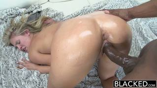 Blacked Preppy Scarlet Red Loves Big Black Dick