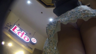 Teen Upskirt In Restaurant