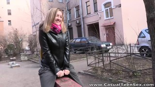 This Cute Naive Chick Just Can't Say No To A Handsome Blond
