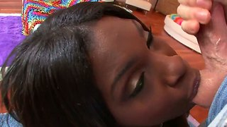 Slurpy Blowjob With Hot Ebony Babe Tatiyana Foxx