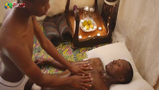 Steamy African Massage By Skinny Black Boys