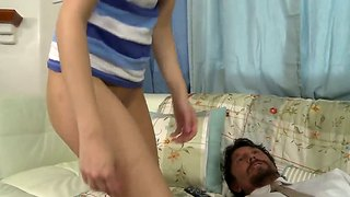 A Babysitter Is Forced To Ride A Old Dick