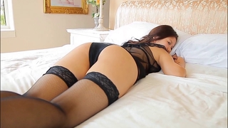 Softcore Aisan Lingerie Stocking Tease