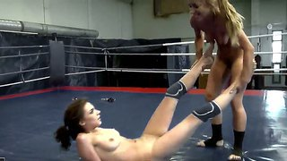 Horny Teen Lesbians Henessy And Nikky Thorne Are Making Out, While Having A Fight