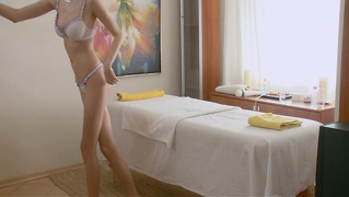 Long Legged European Teen Elysee Oiled Massage Fucked