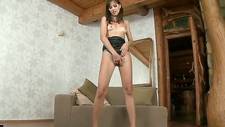 Brunette Bitch Aspen Fingering Super Tight Holes In The Most Exciting Poses