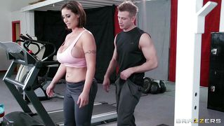 Eva Gets Drilled Hard In The Gym.