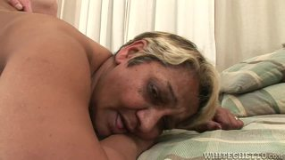 Watch Sexy Grandma Laying Down For A Good Young Cock Inside!