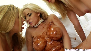 Chocolate Covered Enema Dykes Lesbo Fun