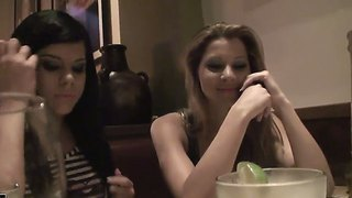 Naughty Babes Cindy Hope, Jessica Moore, Madison Parker And Sandy Arrange Nice Romantic Dinner