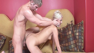 Hot Blonde Teen Getting Fucked And Cummed On By Her Boyfriend