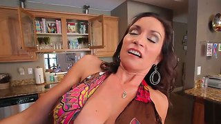 Yummy Raven Lechance Met Her Son's Friend, Levi, And Banged Him Right In The Kitchen