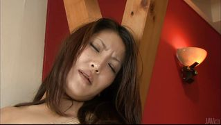 Sexy Japanese Milf Tied Up And Dildo Fucked