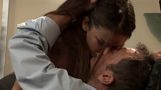 Skinny College Chick Allie Haze Came To Please Her Teacher Randy Spears To Pass An Exam