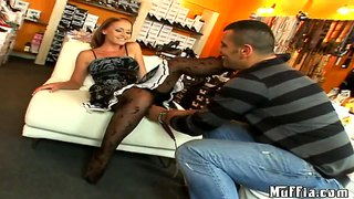 Hot Skillful Kathy Cambel Plays With Kinky Tony