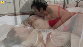 Hot Lesbian Girl Fucks Her Bf Grandmother