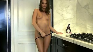 Super Sexy Temptress Tori Black Feeds Her Hungry Pussy At The Kitchen With A Dildo