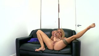 Cameron Canada Dildo Toying And A Blowjob