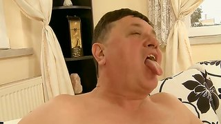 Slutty Blonde Nikky Thorne Pleasing A Grandpa And His Old Cock