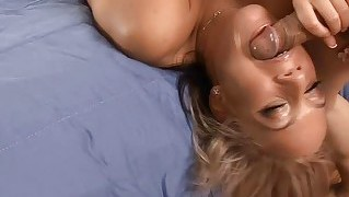Teen Sucker Challenges A Cock