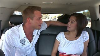 Sweet Babe Vanessa Leon Gets Seduced Into Hard Fucking While Riding In The Bang Bus
