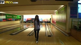 Hot Babe Nessa Devil Got Hot While Playing Bowling With Her Boyfriend And Wanted To Have Sex